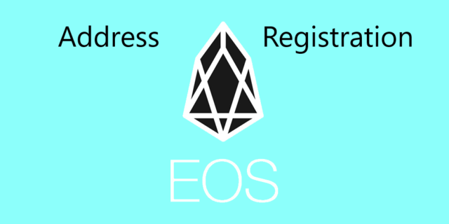 EOS address registration