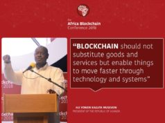 President Museveni, courtesy of blockchain association of Uganda