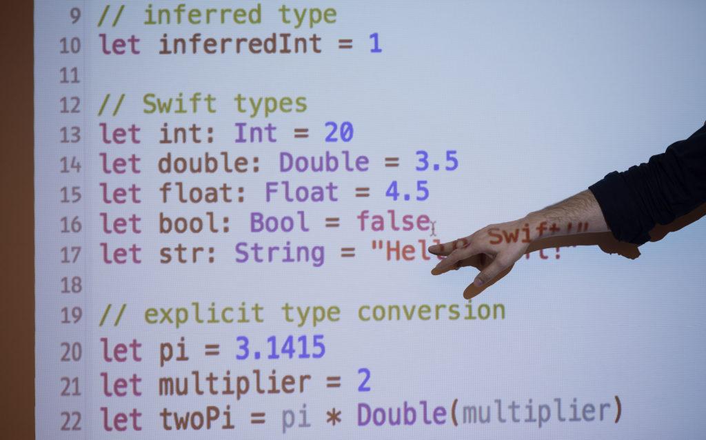 illustration of programming language