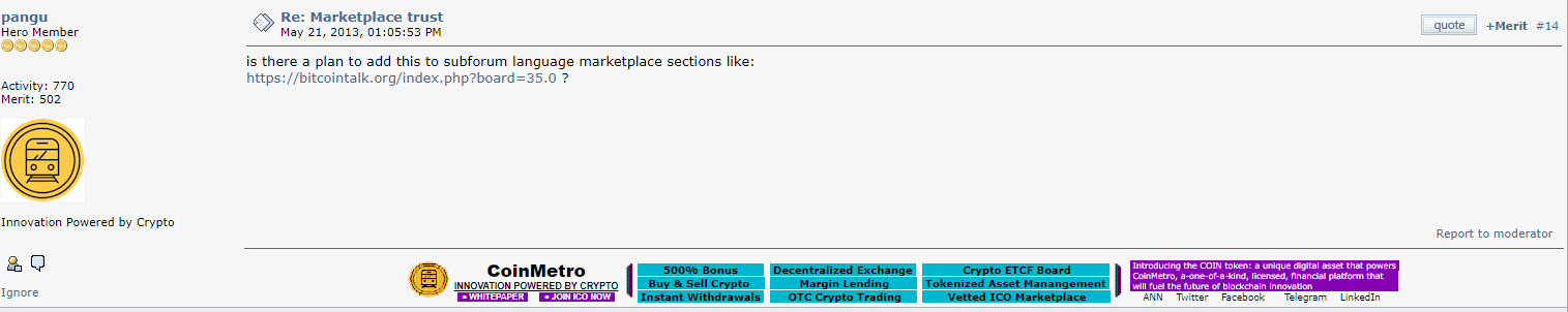 Bitcointalk signature
